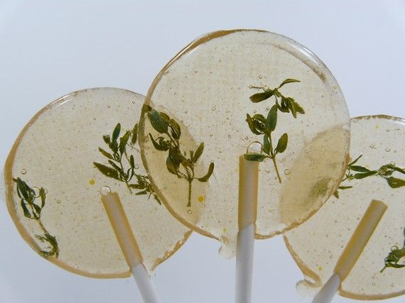 // Orange Blossom Thyme Lollipop