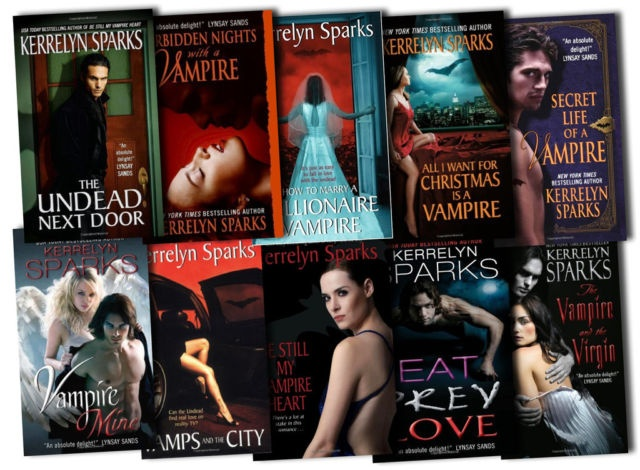 Kerrelyn Sparks - Love at Stake series. I'll admit it. I'm a hopeless paranormal romance reader.