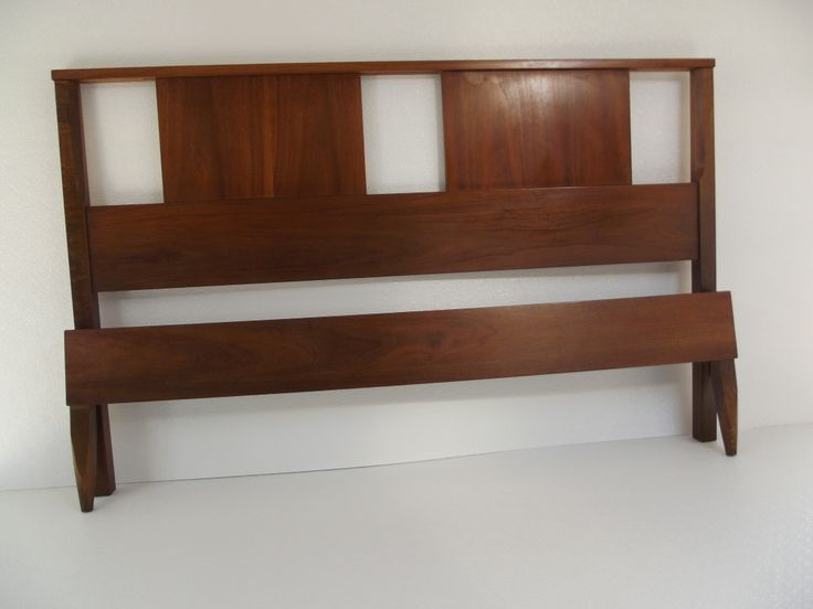 MID CENTURY DANISH MODERN Walnut Headboard U0026 Footboard W/rails   See More  At: Http://www.midcenturymodern Retrodeco.com/product/mid Century Danish U2026