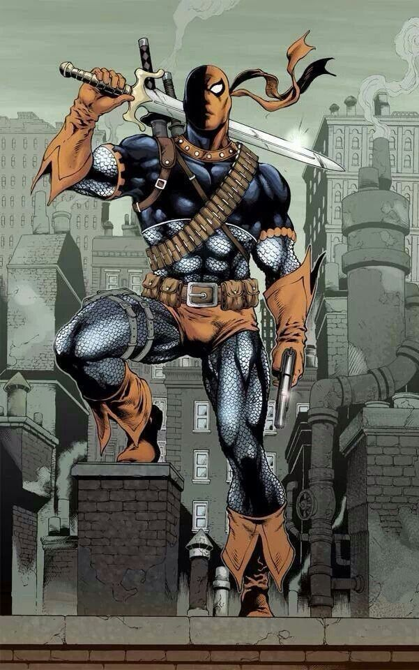 Deathstroke (Slade Wilson) originally called simply the Terminator is a fictional character, supervillain, and sometimes antihero, in the DC Comics universe. Created by Marv Wolfman and George Perez, he first appeared in The New Teen Titans vol. 1 #2 in 1980. Deathstroke is the world's greatest assassin/mercenary and an enemy of the Teen Titans. Originally a soldier in the U.S. Army, he was part of an experimental super-soldier project where he gained enhanced strength, agility and…