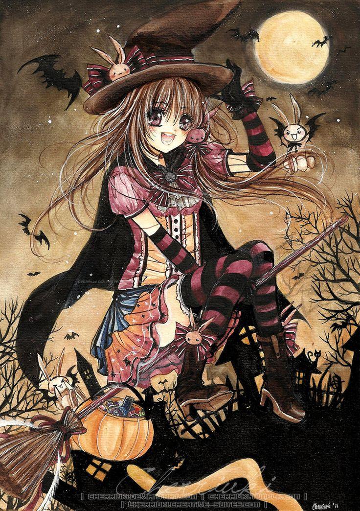 witch.quenalbertini: Happy Halloween by cherriuki on DeviantArt