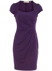 Petite purple ponte dress