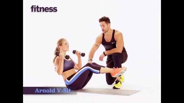 """6 Quick Exercises for Hot Arms and Abs Check it—these compound moves will get you sexy arms faster than those old one-spot-at-a-time sets. """"Maximizing the number of muscles that you use is a better return on your rep-vestment,"""" says Noah Neiman, a master trainer at Barry's Bootcamp in New York City who has a devoted—and carved—following. Do three rounds of his circuit using five- to 12-pound dumbbells; the lighter ones are for shoulder presses, the heavier for curls. To net even more toning…"""