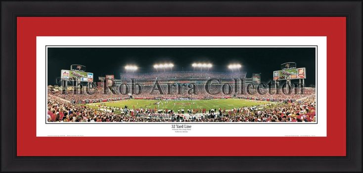 "Tampa Bay Buccaneers 32 Yard Line 42"" x 18"" Framed and Matted Stadium Panorama"