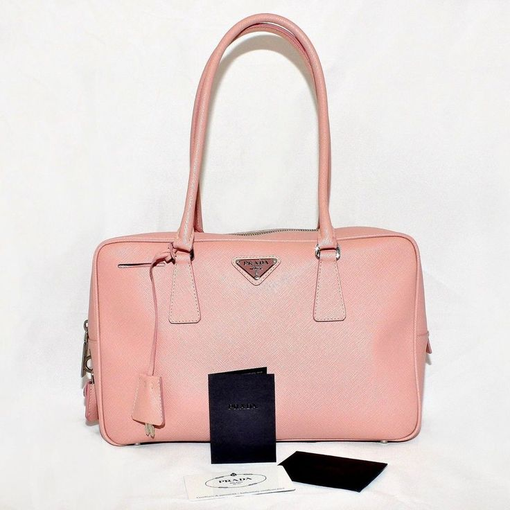 PRADA Saffiano Leather LUX 1 Bauletto ALABASTRO PINK Doctors Bag ...