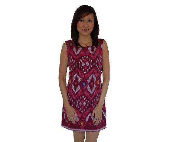 Brand New. Handmade Woven Dress Pink. Loom by SignatureofNana