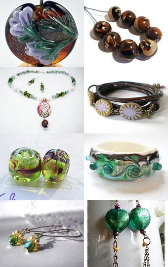 Beaded Beauties by Carolyn Ford on Etsy--Pinned with TreasuryPin.com