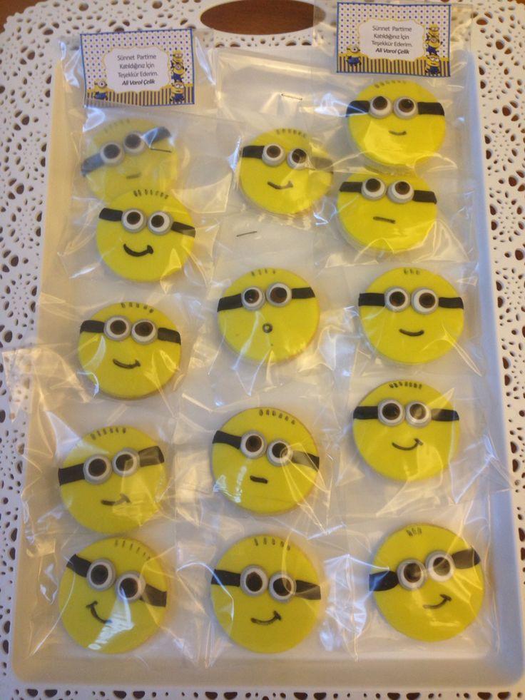 Minyon kurabiyelerim. Minion cookies #minioncookies