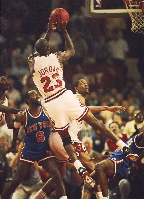 Michael Jordan Chicago Bulls New York Knicks Horace Grant Bill Cartwright