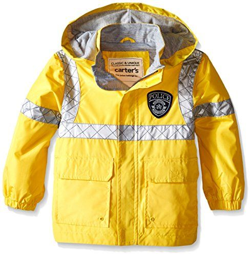 Carter's Little Boys' Police Raincoat Slicker, Yellow, 3T *** Read review @