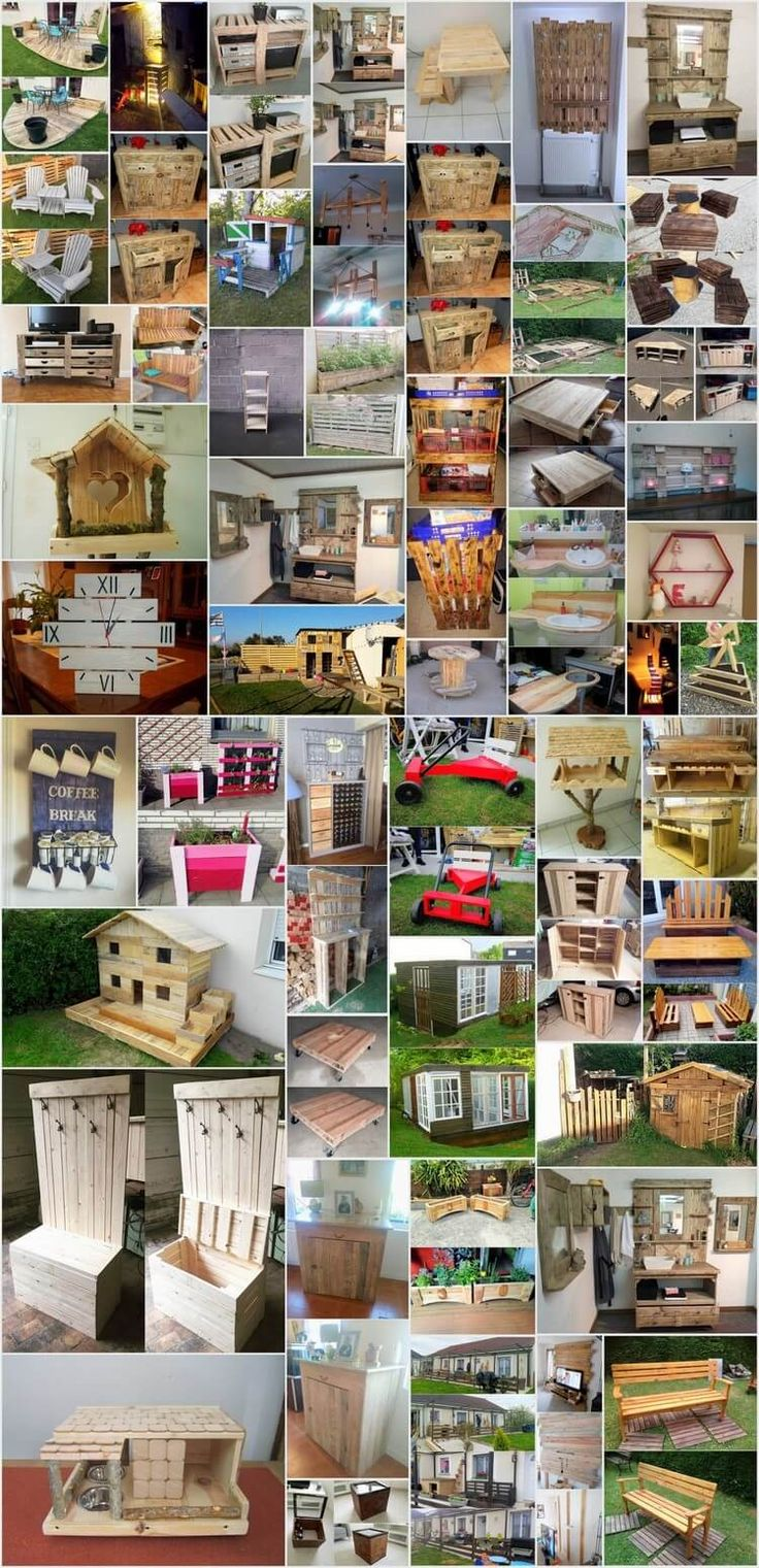 50 inspiring diy ideas with wooden pallets wooden for 50 wood pallet projects