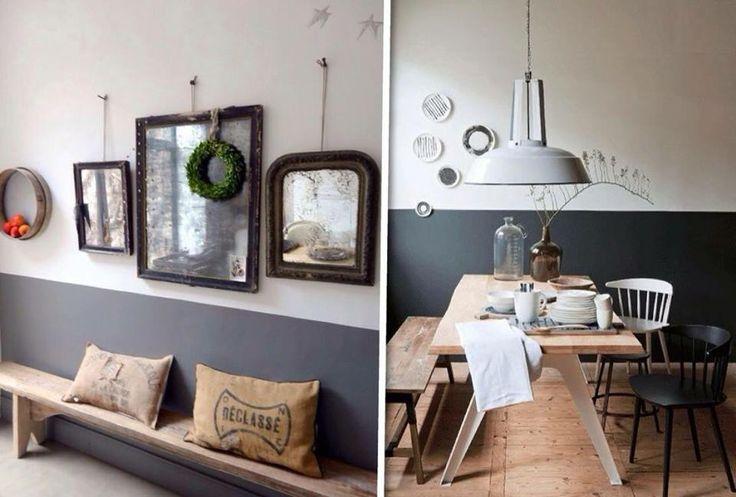 25 beste idee n over blauwe hal op pinterest hal verfkleuren lambriseringen gang en witte hal - Kleur schilderij gang ...