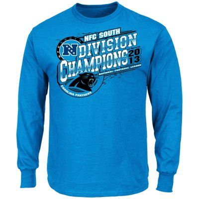 Carolina Panthers 2013 NFC South Division Champions Long Sleeve T-Shirt - Panther Blue