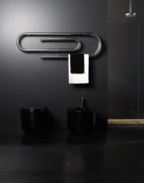 clever: Paperclip, Hydron Towels, Ideas, Interiors Design, Towels Racks, Bathroom, Towels Warmers, Paper Clip, Towel Warmer