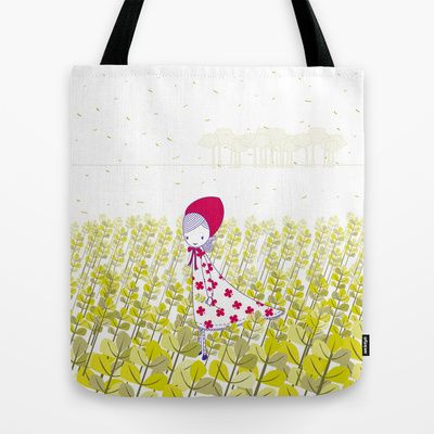 Girl+in+the+field+Tote+Bag+by+radis+-+$22.00