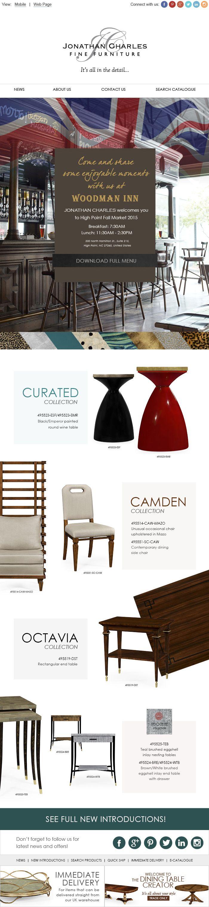 20 best the alexander julian collection images on pinterest invitation woodman inn jonathancharles furniture interiordesign decorex hpmkt