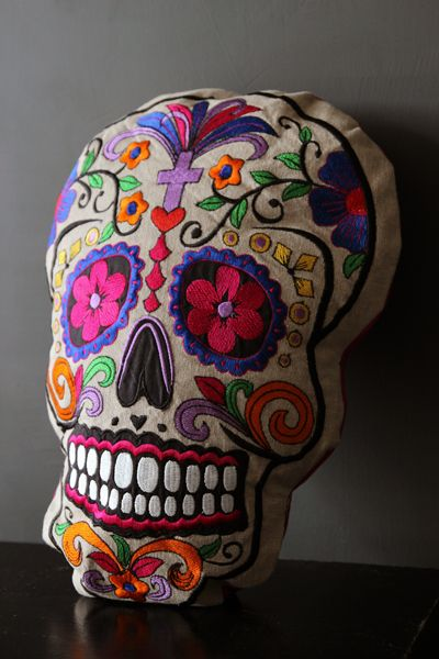 Mexican Day of Dead Cushion