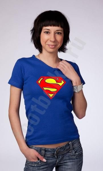 Женская футболка супермена