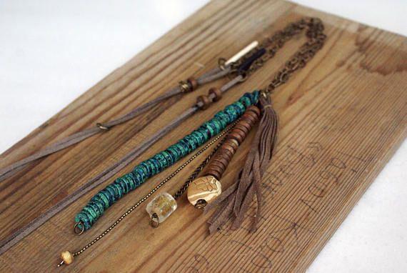 Boho Charm Necklace Vintage Boho Necklace Boho Necklace Long