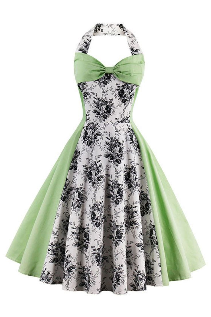 Look gorgeous in green in our Atomic 1950's Vintage Green Floral Halter Cocktail Dress. Take a closer look: https://atomicjaneclothing.com/products/atomic-1950s-vintage-green-floral-halter-cocktail-dress