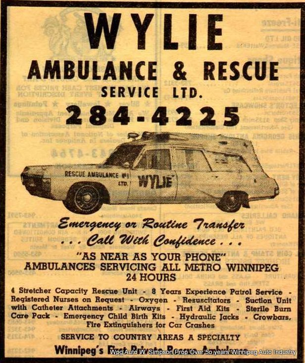Private ambulances of the 1960's 70's and 80's which covered the City of Winnipeg & rural Manitoba Canada areas . These vehicles were each custom built and were the pride of their crews - collection courtesy Mr. K. Burdyny Rivercrest Ambulance Service