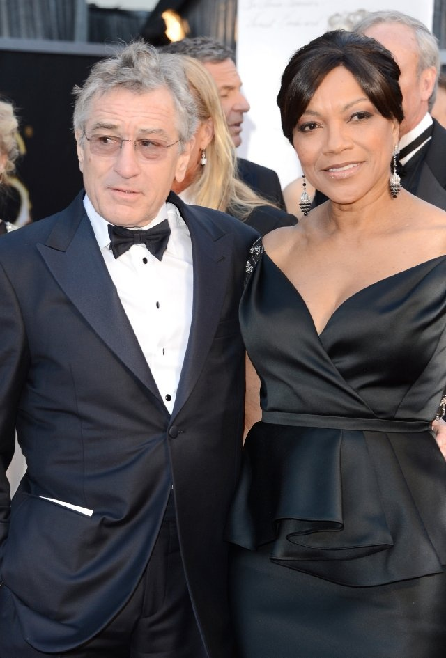 """Robert De Niro and Grace Hightower.  When asked by Katie Couric her secret to a happy, long lasting marriage, Grace Hightower replied, """"I would say a lot of give and take, standing your ground, because then you keep the respect you started out with."""""""