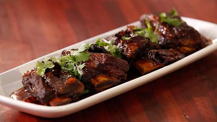 Beef Ribs Braised in Soy and Wheat Beer