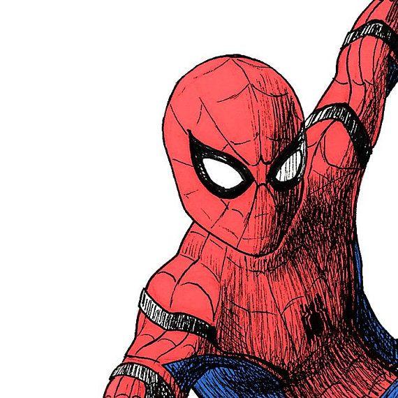 Spider Drawings Man Pencil Homecoming