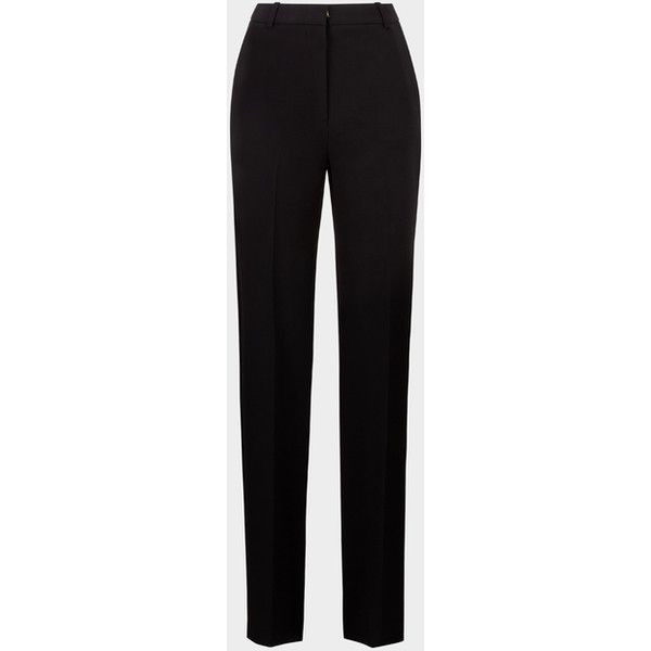 Silk Cady Tuxedo Trouser ❤ liked on Polyvore featuring pants, silk trousers, straight pants, silk pants, tux pants and tuxedo trousers