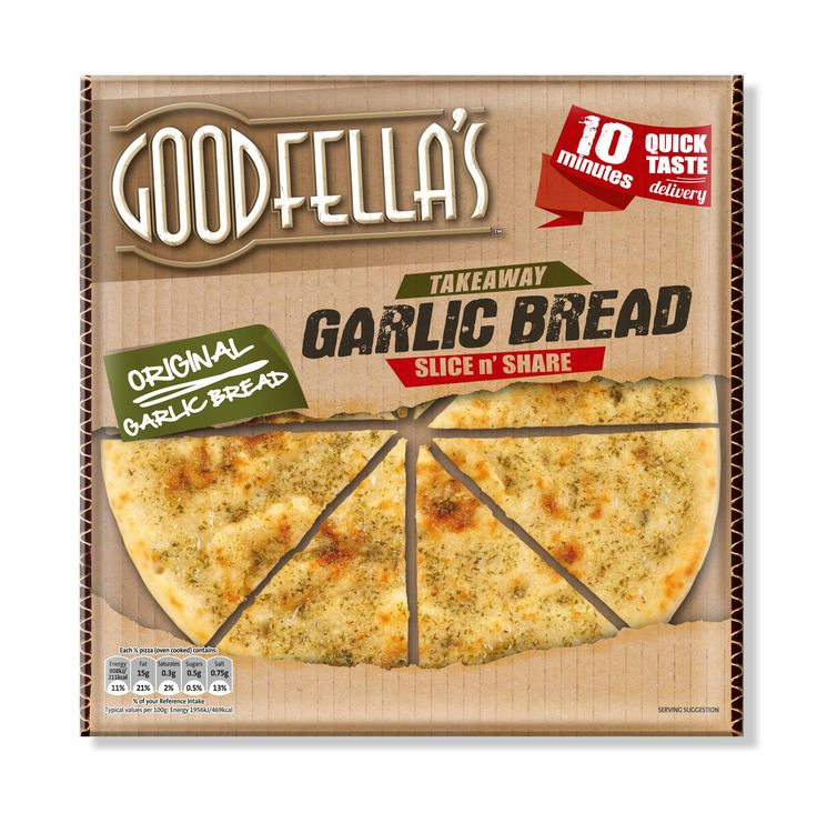 Goodfellas Takeaway Garlic Bread, designed by Mesh Design, Dublin!