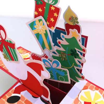 PaperLand: [[My Shop Products] Pop Up Card - Busy Santa / ポップアップカード - サンタは大忙し