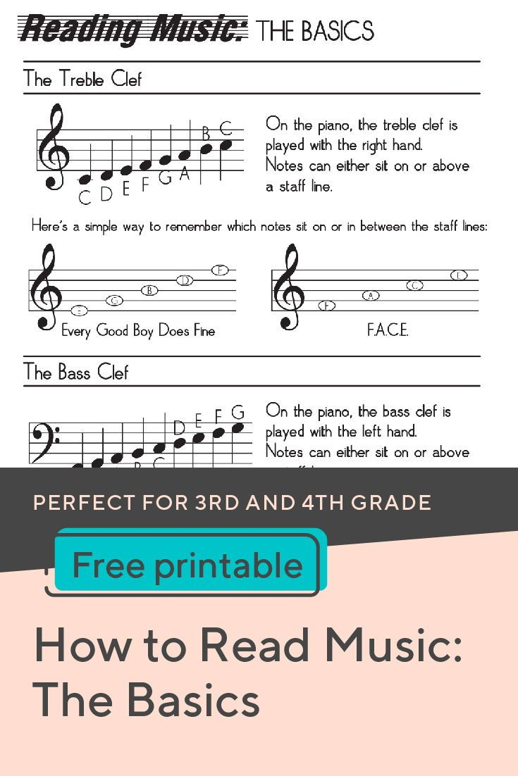 How to Read Music   Worksheet   Education.com   Reading music notes [ 1102 x 735 Pixel ]