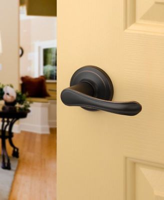 Vail aged oil rubbed bronze passage door knob lever dynastyhardware