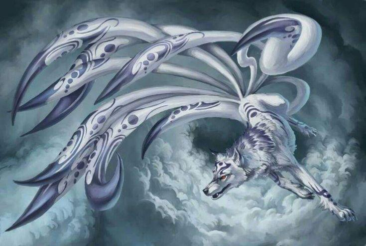 A lenda das Kitsunes é muito popular na mitologia japonesa,é uma raposa mágica, uma criatura da classeMomonoke(espíritos animais que se transformam em humanos, como os Bakenekos,TenguseTanukis).É dito que, sua imagem representa ardileza e inteligência e, de acordo com as lendas, são animais com poderes místicos, sagrados ou amaldiçoados. Poderesque aumentam com a sua idade e
