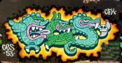 """Neue Graffitiflächen in Pieschen Noch vor kurzem befand sich am """"Tor"""" zu Pieschen eine Brachfläche mit wilden Gehölzen und illegalen Müllablagerungen. """"Wir sind froh, dass durch gemeinsames Engagement diese Brachfläche jetzt eine sinnvolle, außergewöhnliche und dringend notwendige Nutzung bekommt"""", äußerte sich erfreut der Zweite Bürgermeister Detlef Sittel."""