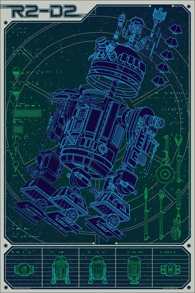 Kevin Tong : A Linch Pin Droid: Kevin Tong, Geek Art, R2D2, Stars War, Poster, Blueprint, Pin Droid, Blue Prints, Linch Pin
