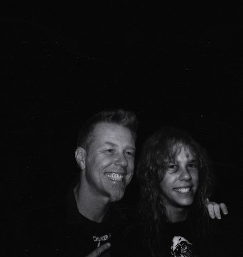 Young and old James Hetfield.