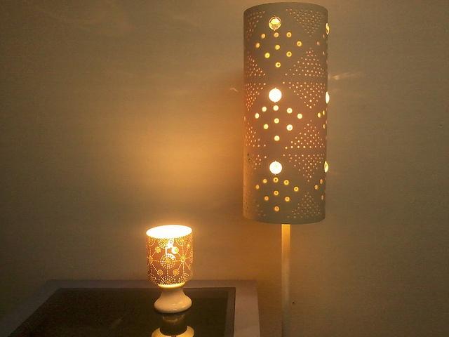luminaria de pvc e cristais | Flickr - Photo Sharing!