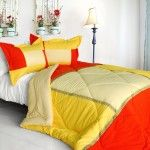 Yellow Comforter Sets Make Your Bed Look Wider And Larger.