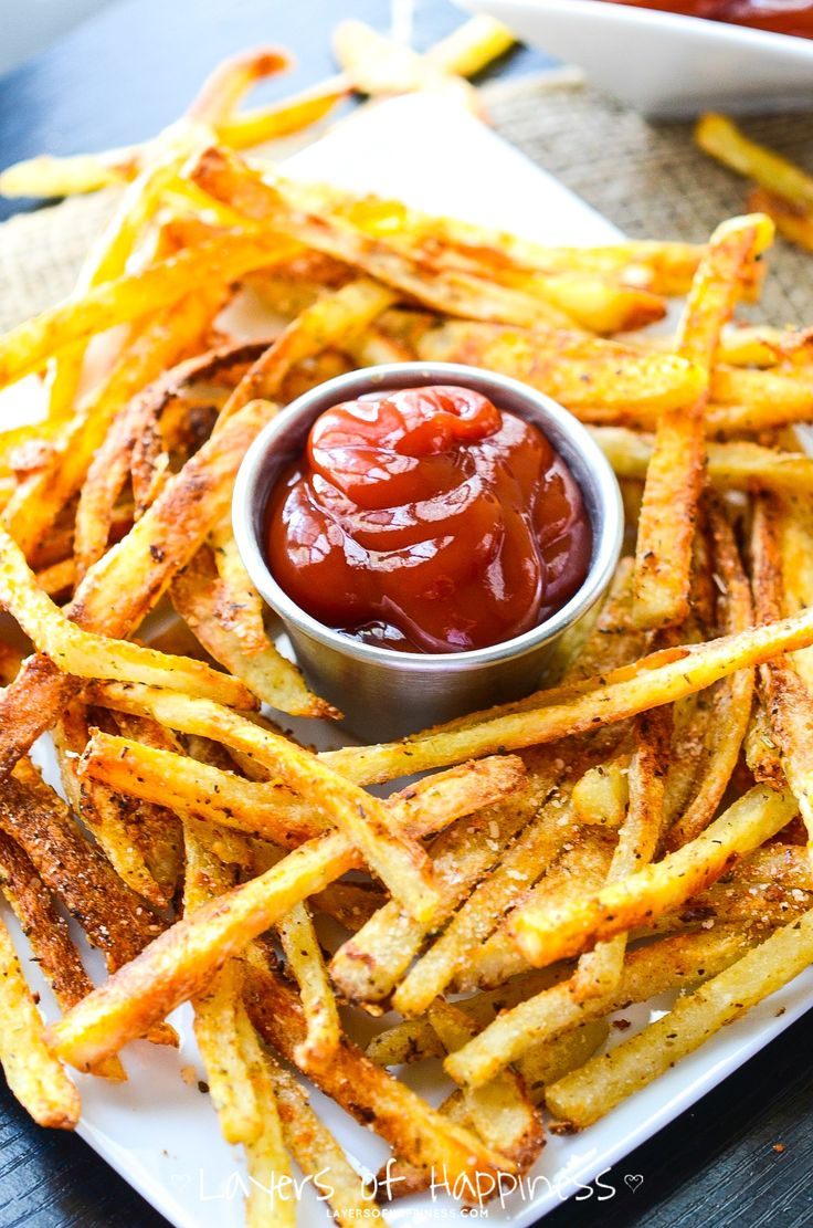 las papas [patatas] fritas