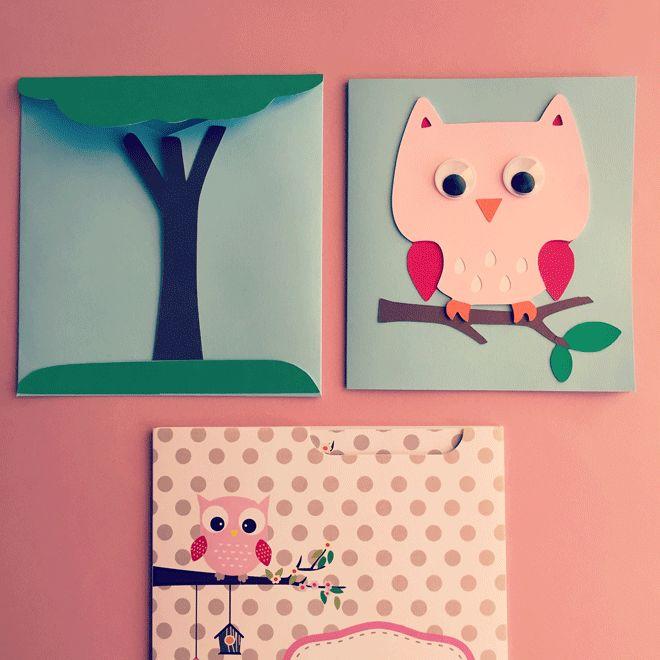 Κάρτα & φάκελος - Κουκουβάγια Owl card & envelope