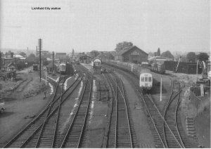 Lichfield City Station in the 1960's.