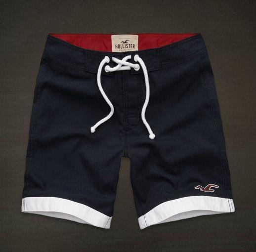 Pantaloneta Gimnasio,ejercicio Ciclovia Hollister Hombre M*