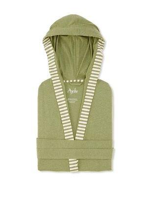 50% OFF Nine Space Striped Trim Jersey Knit Robe (Sage)