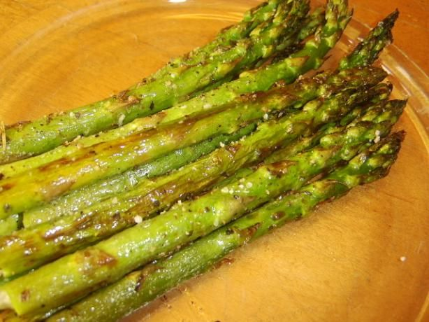 Oven Roasted Asparagus with Parmesan - made this for dinner last night - YUM