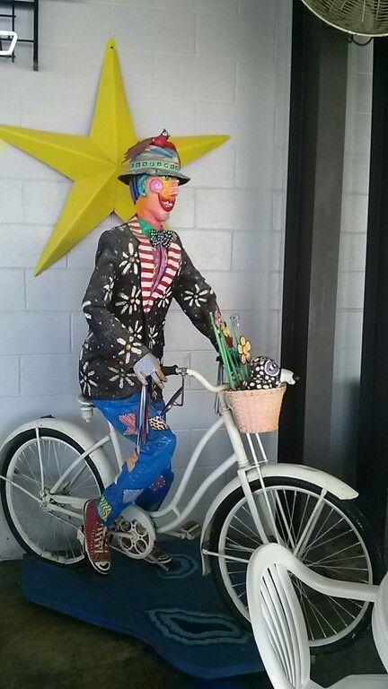 Bike art near the Grafton flea market.