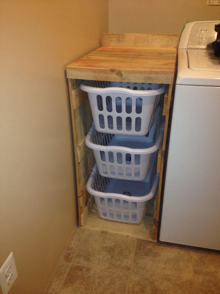 laundry basket holder laundry room pinterest. Black Bedroom Furniture Sets. Home Design Ideas