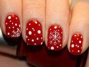 leuke rode nagels voor kerst