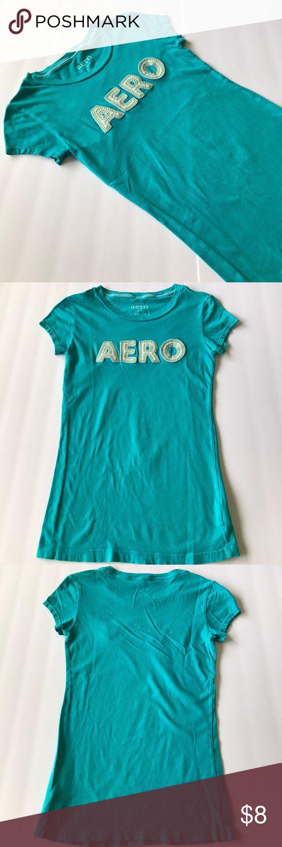 Aeropostale shirt size S Aqua blue graphic tshirt, some pilling Aeropostale Tops Tees - Short Sleeve
