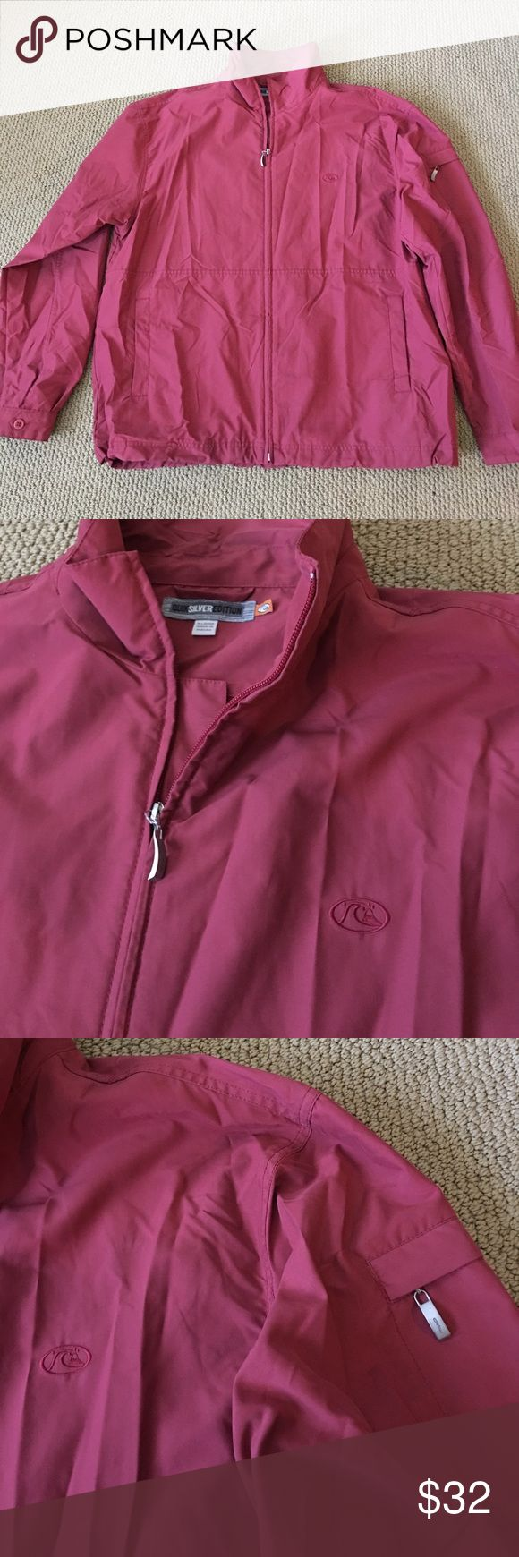 Quiksilver Edition Burgundy Zip Up Jacket XL Quiksilver Edition Zip Up Jacket  Size XL 100% Polyester  Two Front Pockets, Two Interior Pockets Armpit to armpit 25 in Armpit to end of sleeve 22 in Shoulder to hem 28 in Thanks for visiting! Quiksilver Jackets & Coats Lightweight & Shirt Jackets